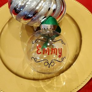 Other - Personalized Christmas handmade ornament with name
